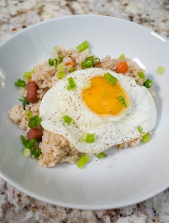 Smap Fried Rice with Fried Egg and Green Onions
