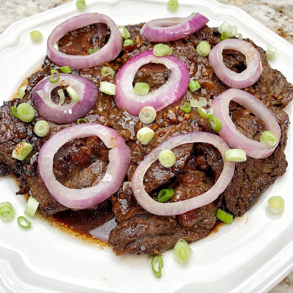 Filipino-Style Beef Steak (Bistek)