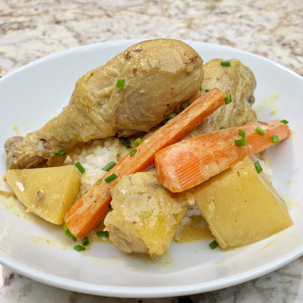 Filipino Style Chicken Curry with Carrots and Potatoes
